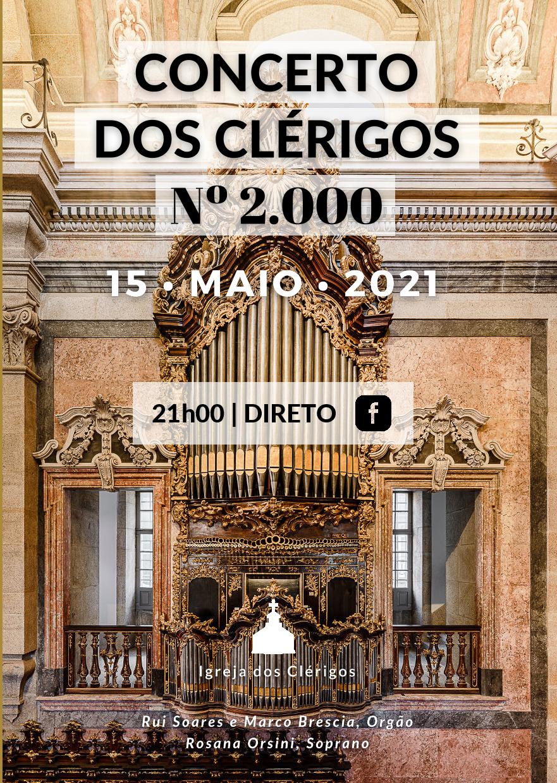 Concerto diário nº 2000 Igreja e Torre dos Clérigos